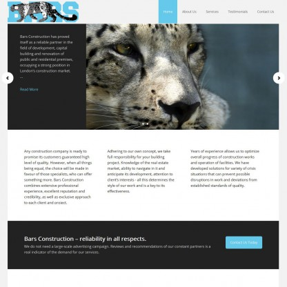 Bars Construction Website