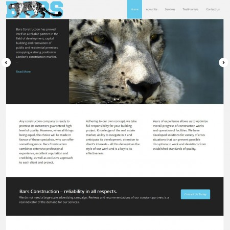 Bars Construction Website