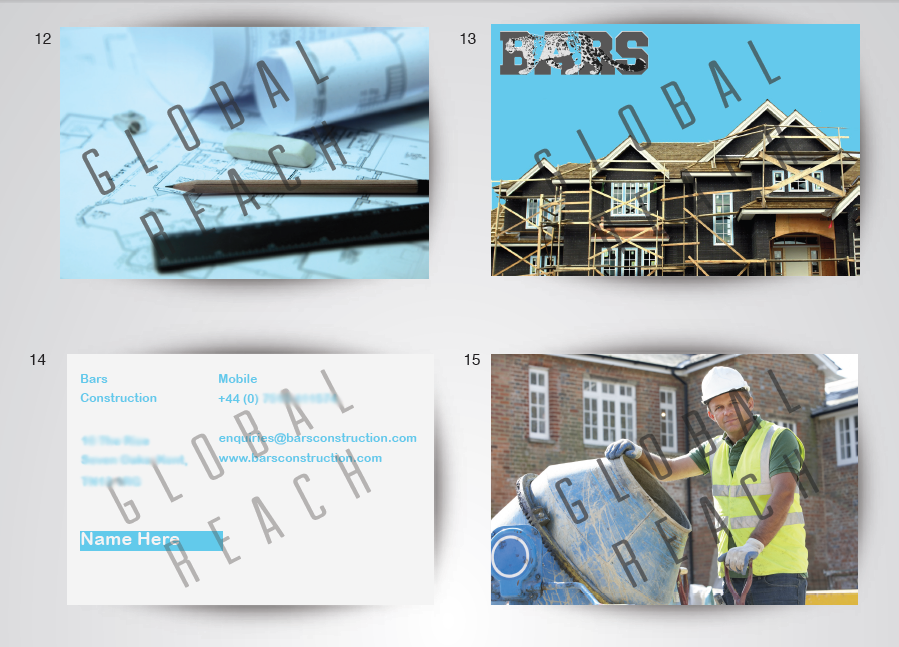 Bars Construction Business cards 3