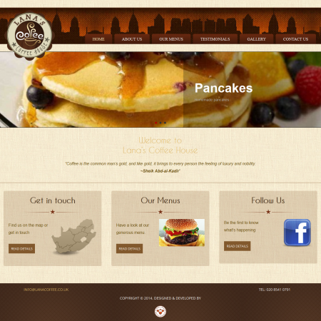 Lana's Coffee House Website